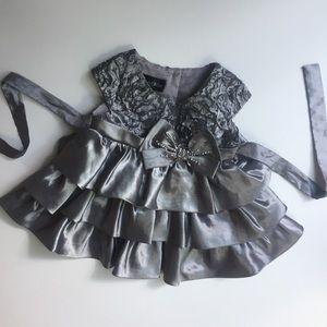 Isobella and Chloe 6 Mo Gray Party Dress